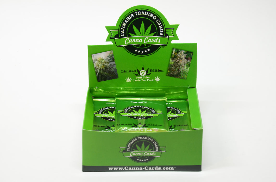 WHOLESALE 1 Countertop Display Unit (20 packs of 7 Cannabis Trading Cards)