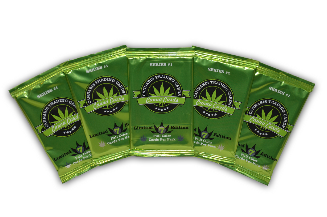 5 Pack of Cannabis Trading Cards