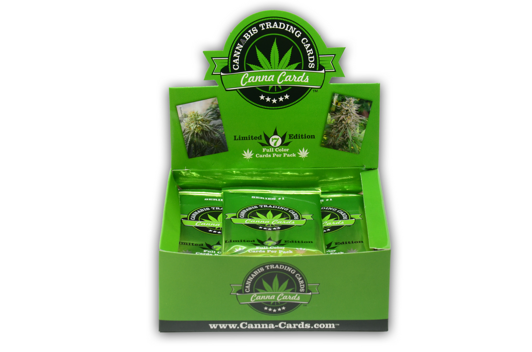 20 Pack Single Countertop Display Unit of Cannabis Trading Cards