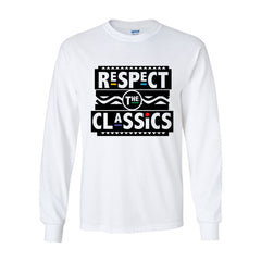 Respect The Classics Long Sleeve T-Shirt White