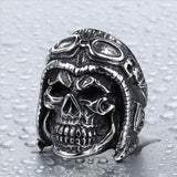 """Old Skool Rider"" Stainless Steel Ring"