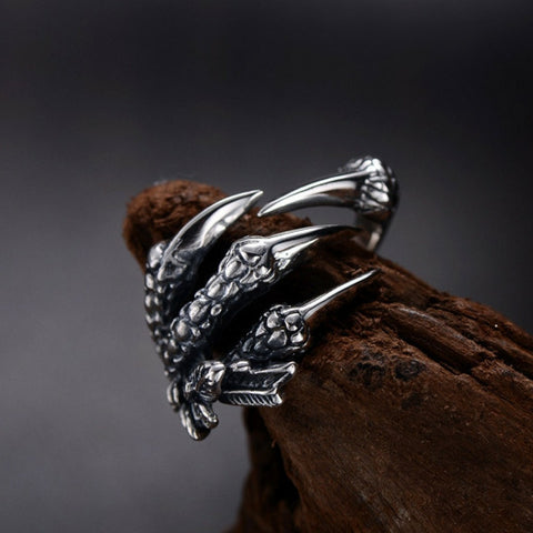 """Dragon's Claw"" Stainless Steel Ring"