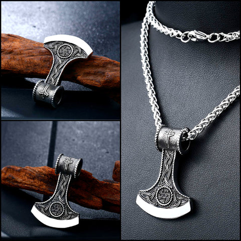 """Viking Warrior Axe"" Pendant - Stainless Steel"