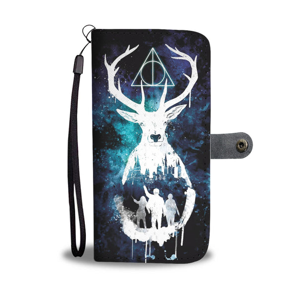 """Hogwarts in Watercolor"" Phone Wallet Case"
