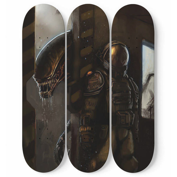 """Hiding"" Skateboard Art (Vertical)"