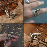 """Baby Xenomorph"" Adjustable Ring"