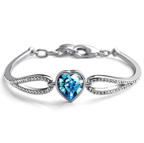 """Crystal Heart"" Bracelet"