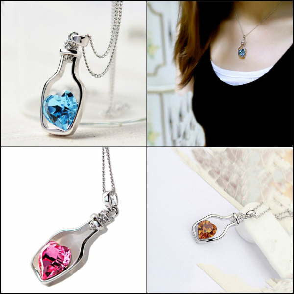 """Heart-in-a-Bottle"" Necklace"