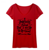 """Up To No Good"" Women's T-Shirt"