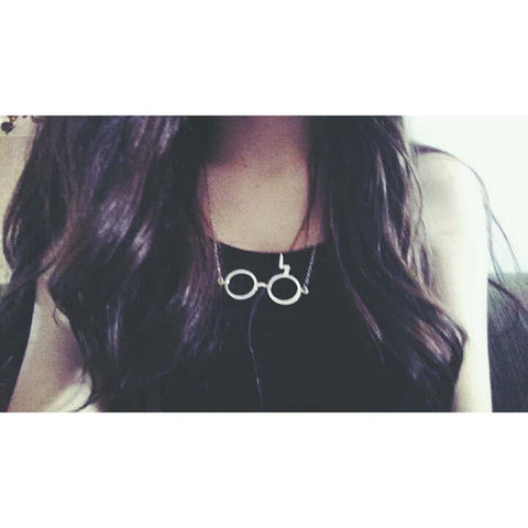 """Lightning Bolt Glasses"" Necklace"