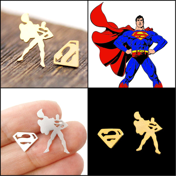 "Stainless ""Man of Steel"" Earrings"