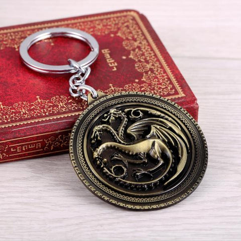 """House Targaryen"" Keychain - Alternate Design"