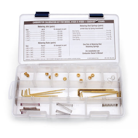 Calibration Kit #1489 For #1411 Performer Series Carbs