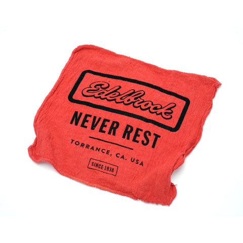 "Edelbrock ""Never Rest"" Shop Rag"
