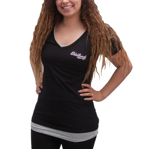 Edelbrock Racing Flag V-Neck Tee