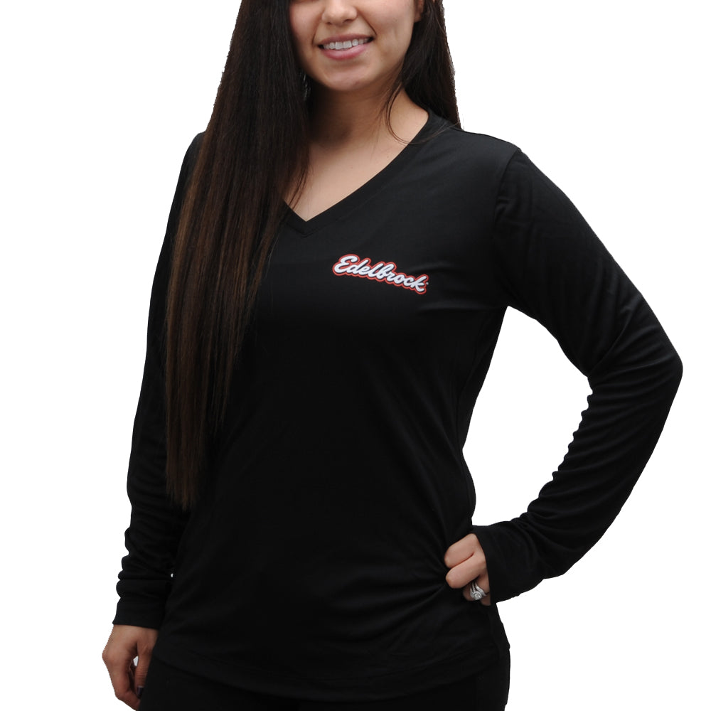 Edelbrock Long Sleeve V-Neck Logo Tee