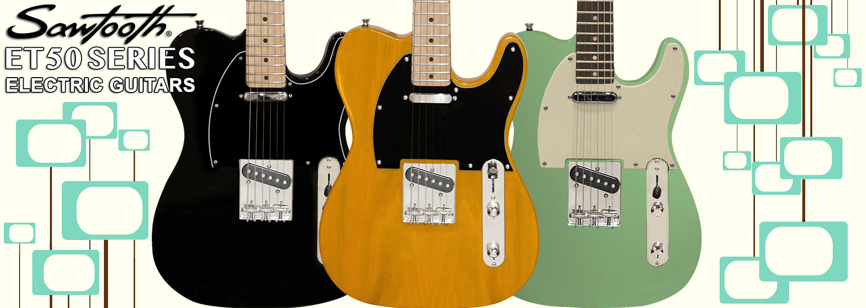 Sawtooth ET50 Series Electric Guitars
