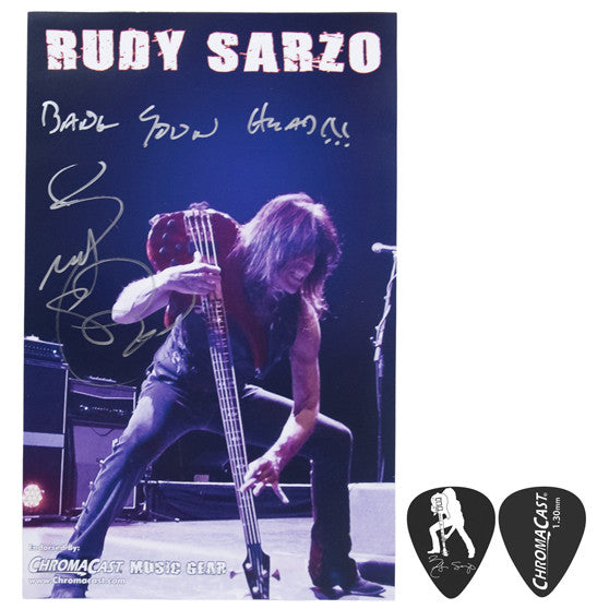 Rudy Sarzo Poster & Pick Pack