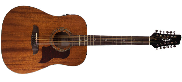 12 String Dreadnought Mahogany Acoustic Guitars