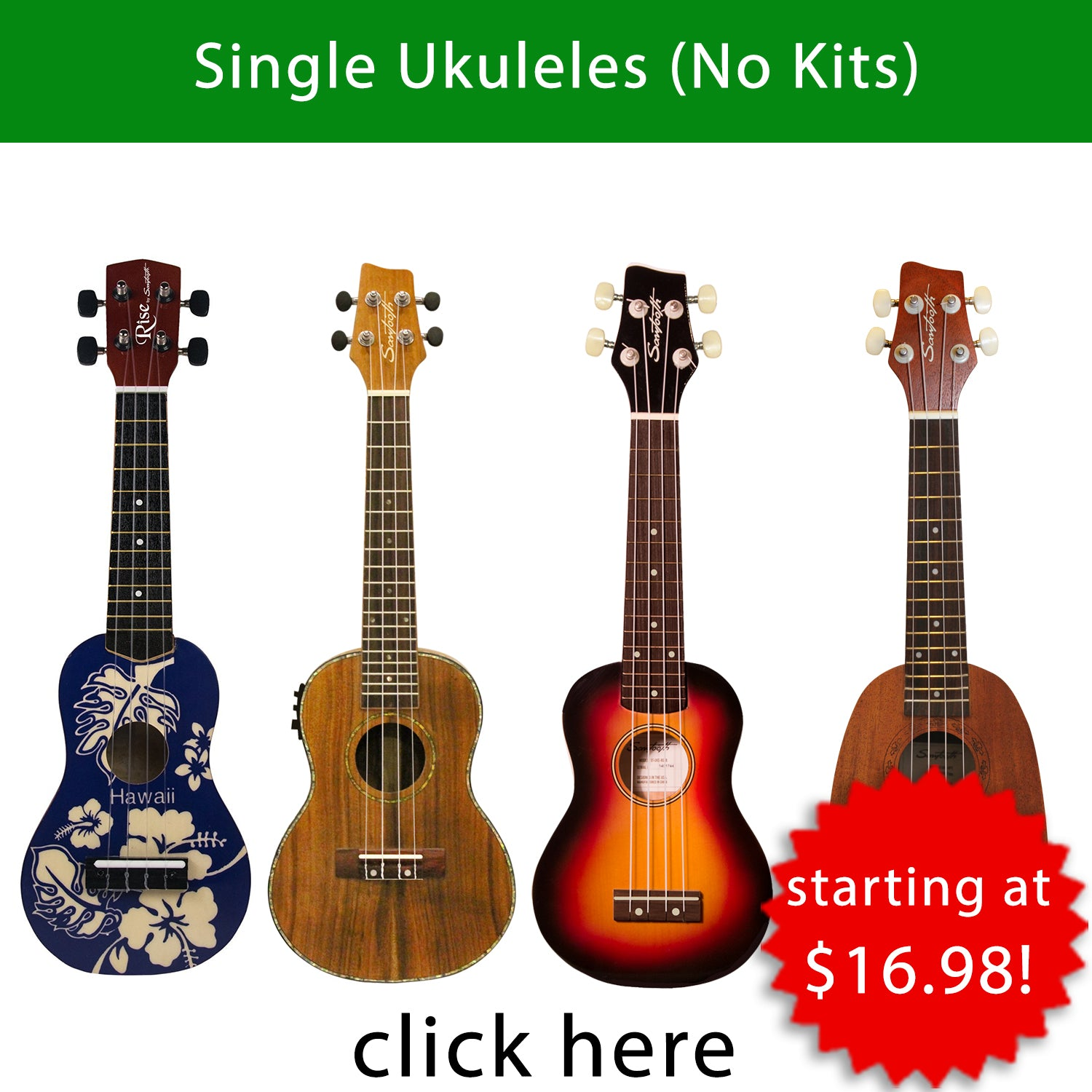 Great Gear Fast! Ukuleles