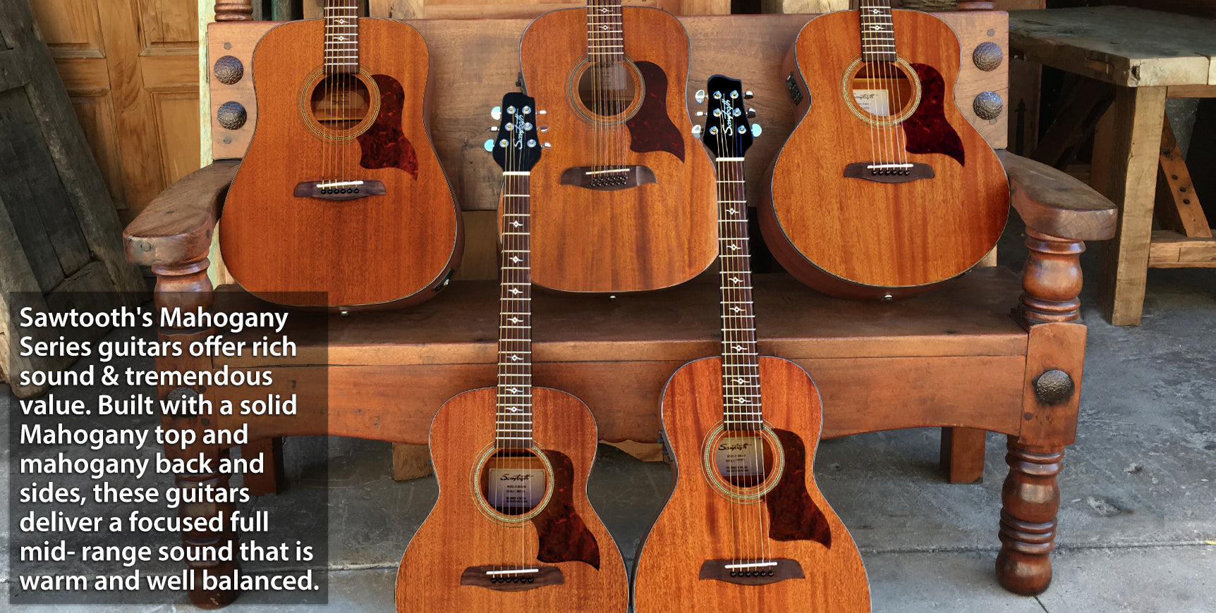 Sawtooth Mahogany Acoustic Series