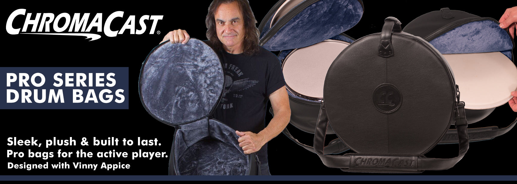 Vinny Appice Leather Drum Bag
