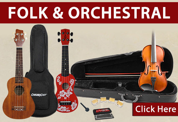 Folk and Orchestral Instruments on Holiday Clearance