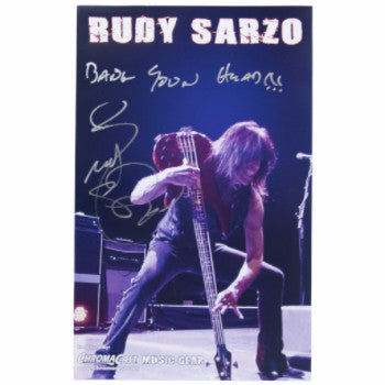 Rudy Sarzo Autographed Poster