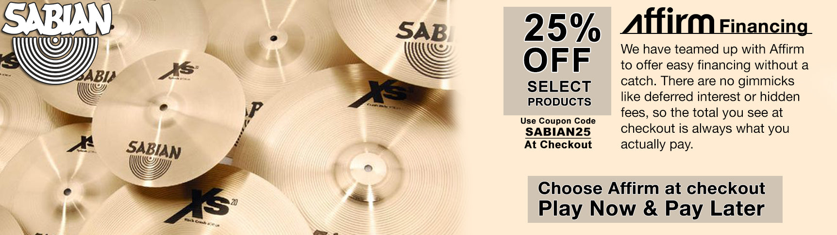Sabian Holiday Sale