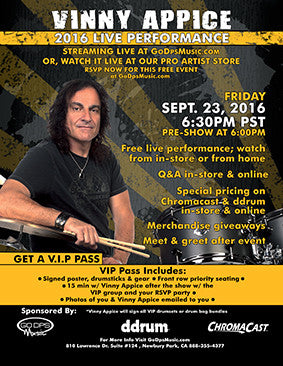 Vinny Appice 2016 Clinic