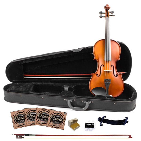 Rise by Sawtooth Student Violin with Carved Solid Spruce Top & Maple Back and Sides, Full Size
