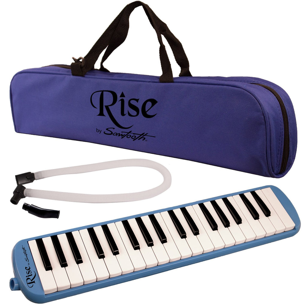Rise by Sawtooth Piano Style Melodica with 37 Keys, Blue