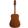 Sawtooth Mahogany Series 12-String Acoustic-Electric Dreadnought Guitar with Hard Case & Pick Sampler