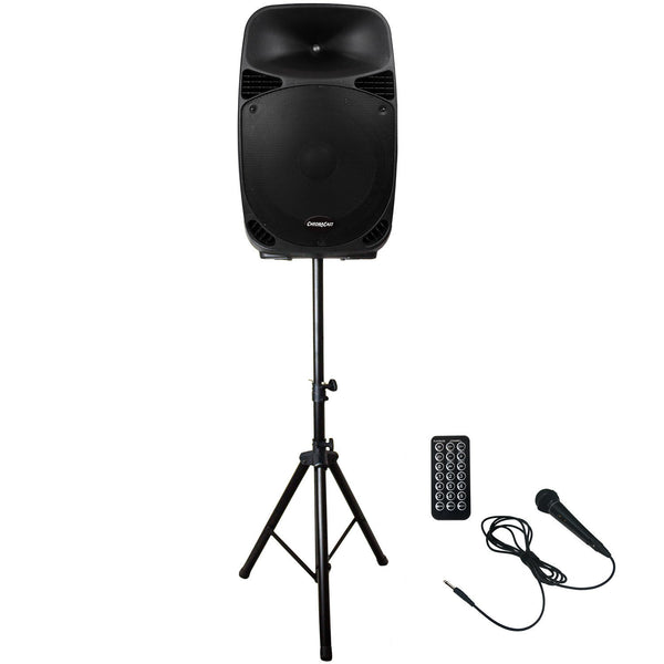 ChromaCast Portable PA 2 Channel 2 Way Active 150 watt Sound System w/ Bluetooth, Microphone & Stand