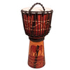 "Sawtooth Harmony Series 12"" Hand Carved Elephant Design Rope Djembe"