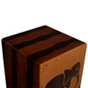 Sawtooth Harmony Series Hand Stained Elephant Design Compact Size Cajon with Cajon Bag & Direct Drive Cajon Pedal
