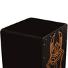 Sawtooth Harmony Series Hand Stained Spirit Design Satin Black Large Size Cajon with Cajon Bag & Direct Drive Cajon Pedal