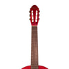 Rise by Sawtooth 3/4 Size Beginner's Classical Guitar with World Tour Graphic Gig Bag & Accessories, Satin Red Stain
