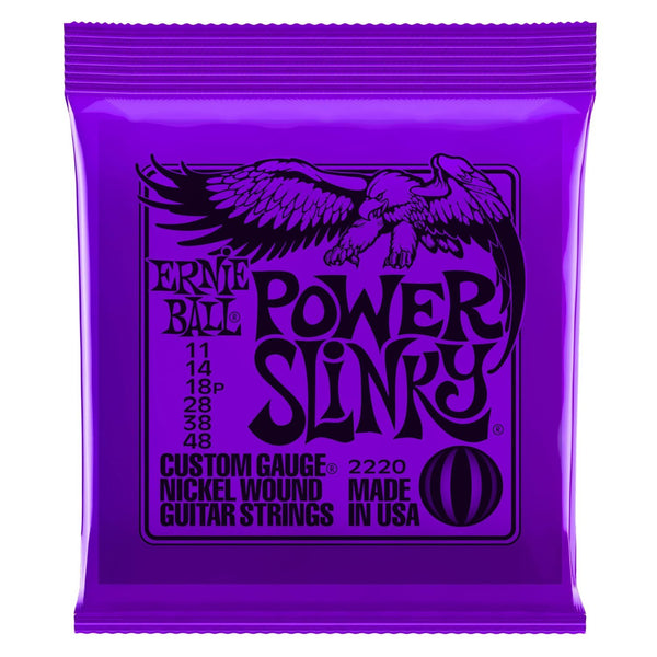 Ernie Ball 2220 Power Slinky Nickel Wound Guitar String Set, .011 - .048