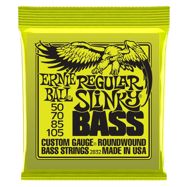 Ernie Ball 2832 Regular Slinky Nickel Wound Bass String Set, .050 - .105