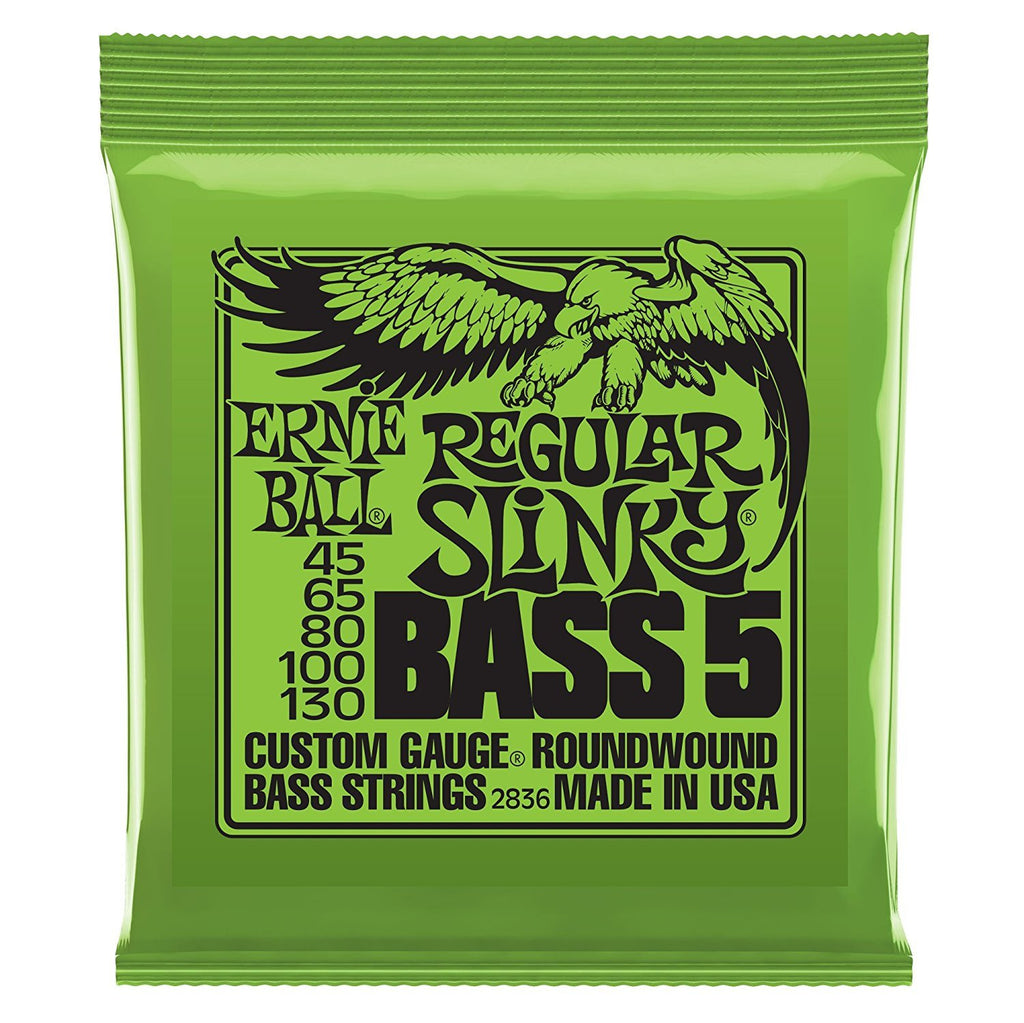 Ernie Ball 2836 5-String Regular Slinky Nickel Wound Bass String Set, .045 - .130