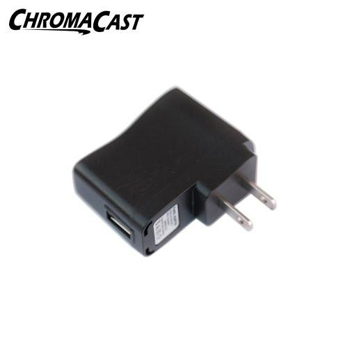 ChromaCast 5 Volt (2.5-watt) USB Power Adapter for iPhone, ipad, and all Standard USB Connections.