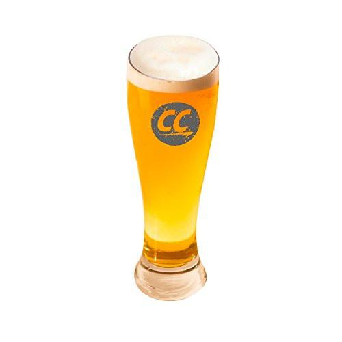 ChromaCast Stamped Logo Pilsner Beer Glass, 18.5-Ounce, Set of 4