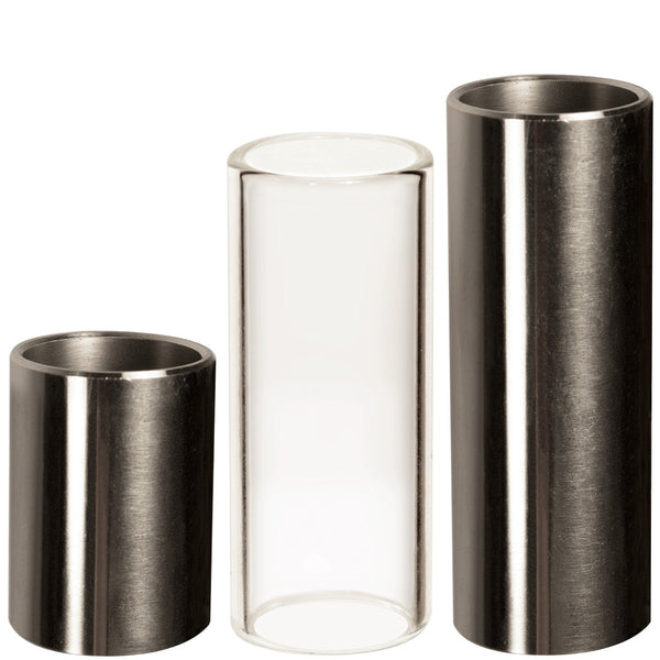 ChromaCast Guitar Slide 3 Pack, Assorted Chromed Steel & Glass Slides