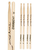 ChromaCast Vinny Appice Signature 5B Autographed USA Hickory Drumsticks with Wood Tip, 1 Pair