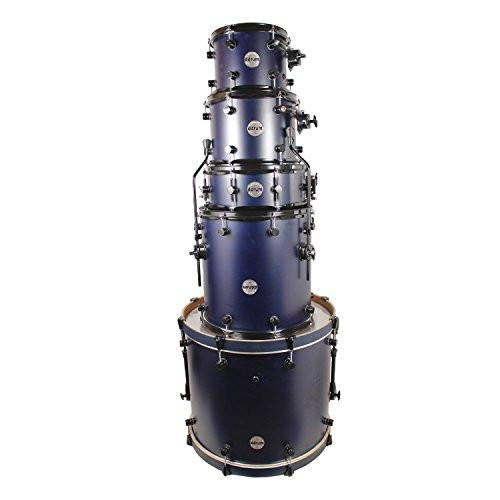 ddrum Reflex Series RSL 22 5 PC BLS 5-Piece Drum Shell Pack, Blue Satin Lacquer, Scratch & Dent