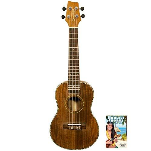 Sawtooth Acacia Soprano Ukulele with Quick Start Guide, Natural Satin