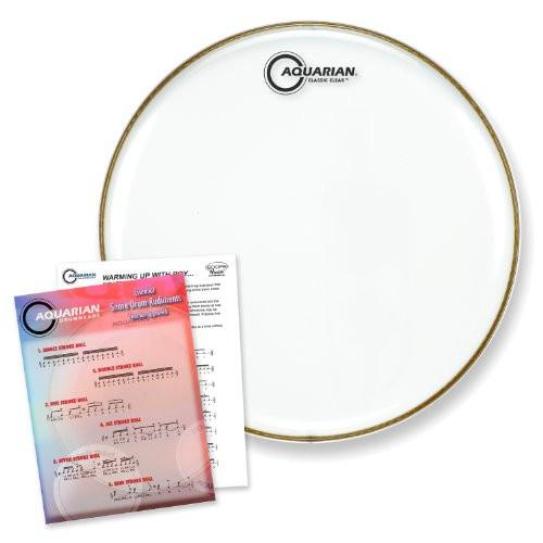 "Aquarian 13"" Classic Clear Snare Bottom Drumhead"