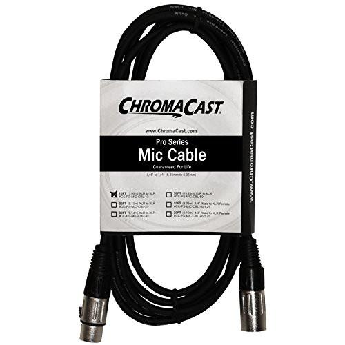 ChromaCast Pro Series Mic Cable 10 Feet, Black, XLR/XLR Ends