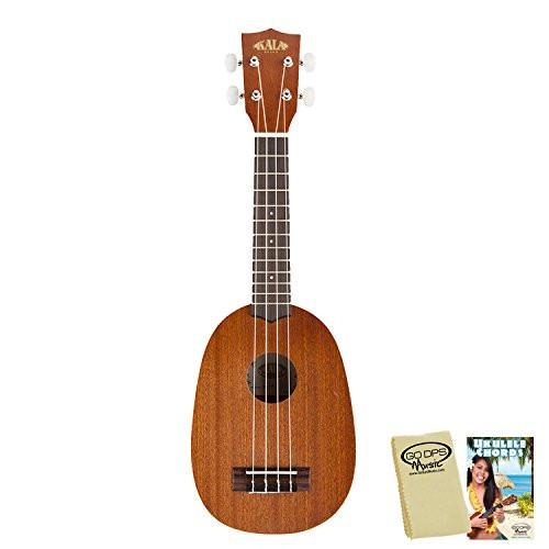 Kala KA-P Satin Pineapple Soprano with Kala Bag, GoDpsMusic Ukulele Chord Guide and Polish Cloth